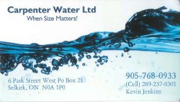 Carpenter Water Ltd.